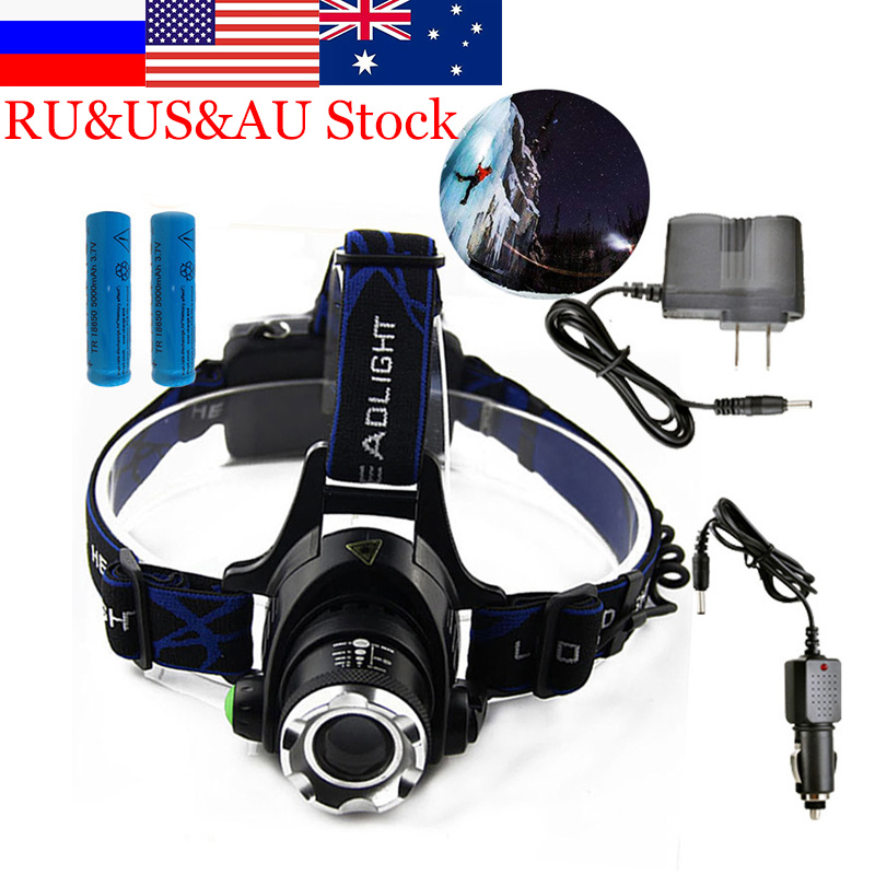 ZK40 6000LM Led Headlamps Head Lights Waterproof Kepala Senter Dahi Headlight Torch Berburu Pertambangan Cahaya Memancing
