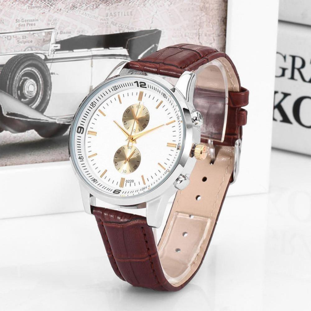 Fashion Leather Band Elegant Quartz Watches  Life Waterproof Hand Casual Leisure Women Decoration Wristwatch fashion elegant m