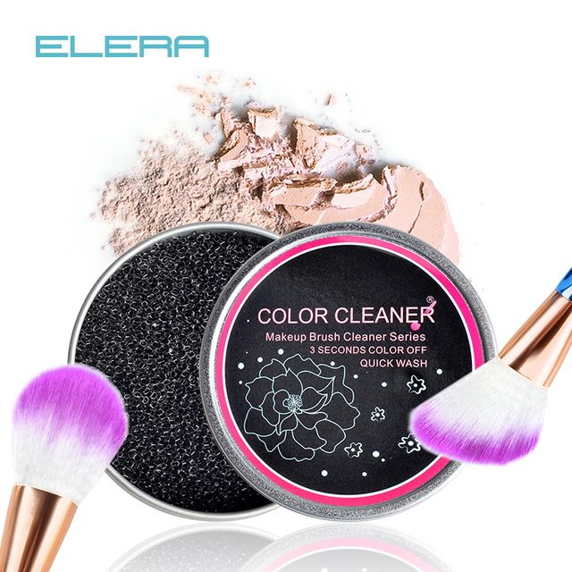3 Deuxième Couleur Off!! maquillage Brosse Cleaner Éponge Remover Couleur De Brosse de Fard À Paupières Éponge Cleaner Tool, Lavage rapide