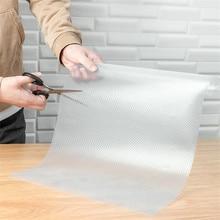 45*150 см прозрачный водонепроницаемый маслостойкий чехол для полки коврик для выдвижного ящика Противоскользящий стол клейкий кухонный шкаф холодильник