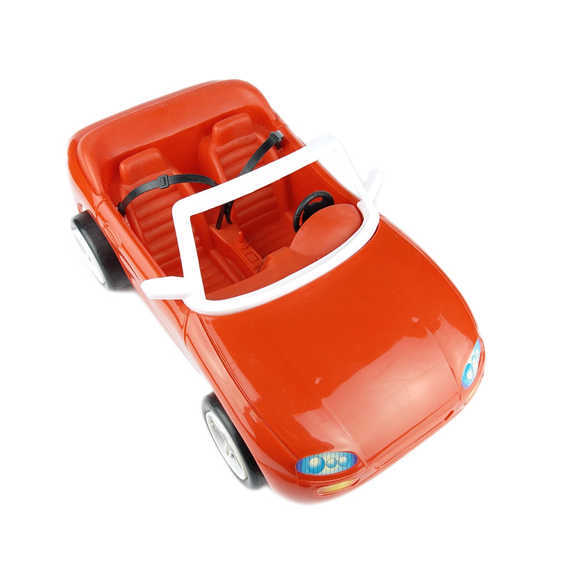 For Barbie Sports Car Play Set Red Roadster City Car With Sticker Decoration Accessories Cabriolet For 1/6 Doll Super Girl Gift