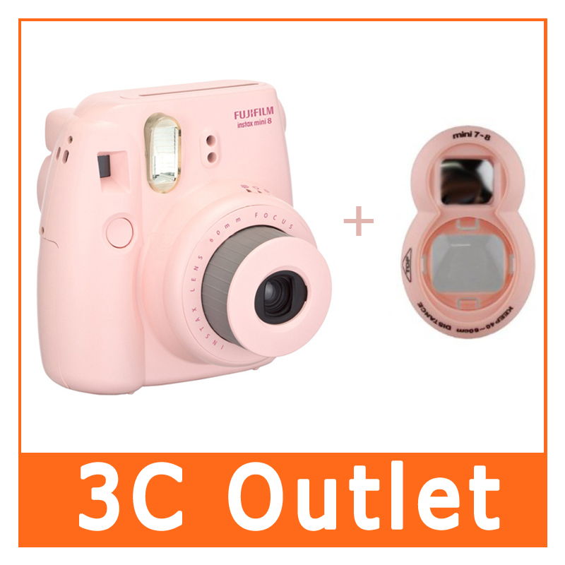 Original Fujifilm Instax Mini 8 Camera + Close-up Lens, (2 In 1 Pink Set) fujifilm instax mini 8 pink