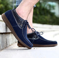Fashion men flat shoes genuine leather casual shoes man patchwork lace-up men's flats sewing walking shoes hombre driving shoes