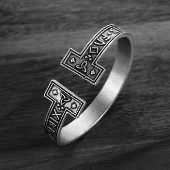 306a9cb3d72a 1 Pza Unid pulsera de runa vikinga para hombre pulsera de runa nórdica  hecha a mano mitología ...
