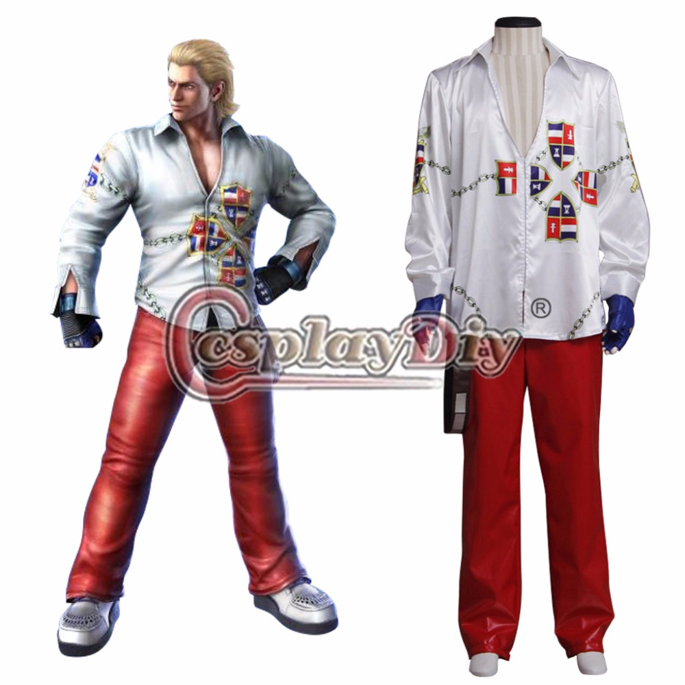 Cosplaydiy  Tekken 6 Steve Fox Cosplay Costume For Adult Men Halloween Carnival Version 01 Outfit Custom Made
