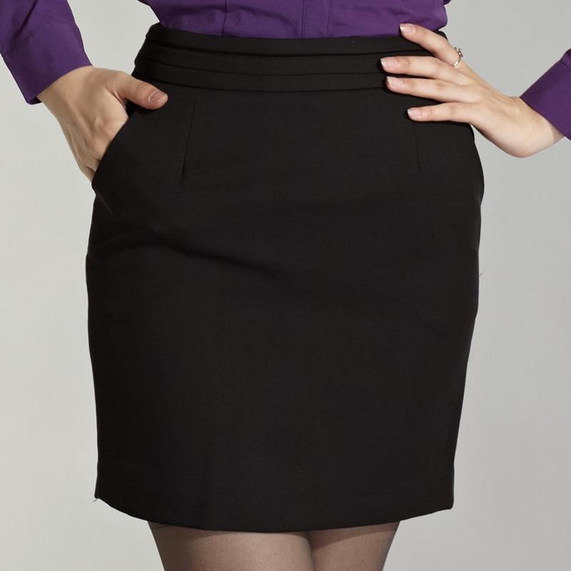 3ad777571 2014 mujeres de moda faldas cortas faldas negras con bolsillo traje Casual faldas  faldas de trabajo para OL señora Free Shipping en Faldas de Ropa de mujer  ...
