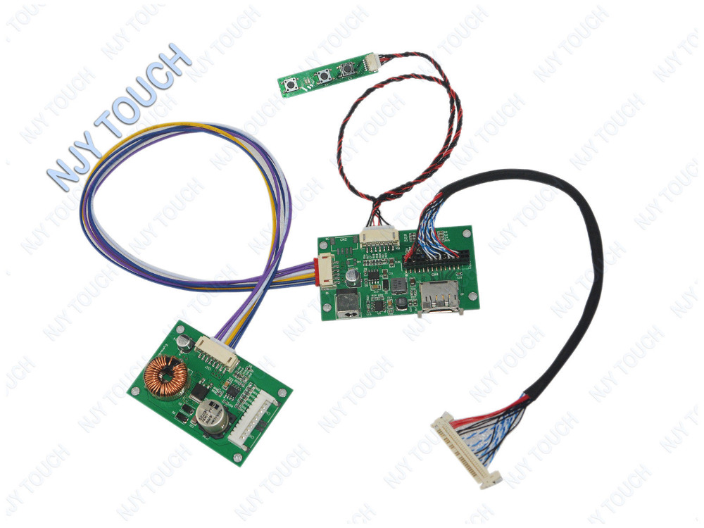 DisplayPort Controller Board For 27 Inch LM270WQ1-SDC1 LM270WQ1-SDC2  LM270WQ1 SDC1 SDC2 2560x1440 EDP 4 Lanes 30 Pins WLED