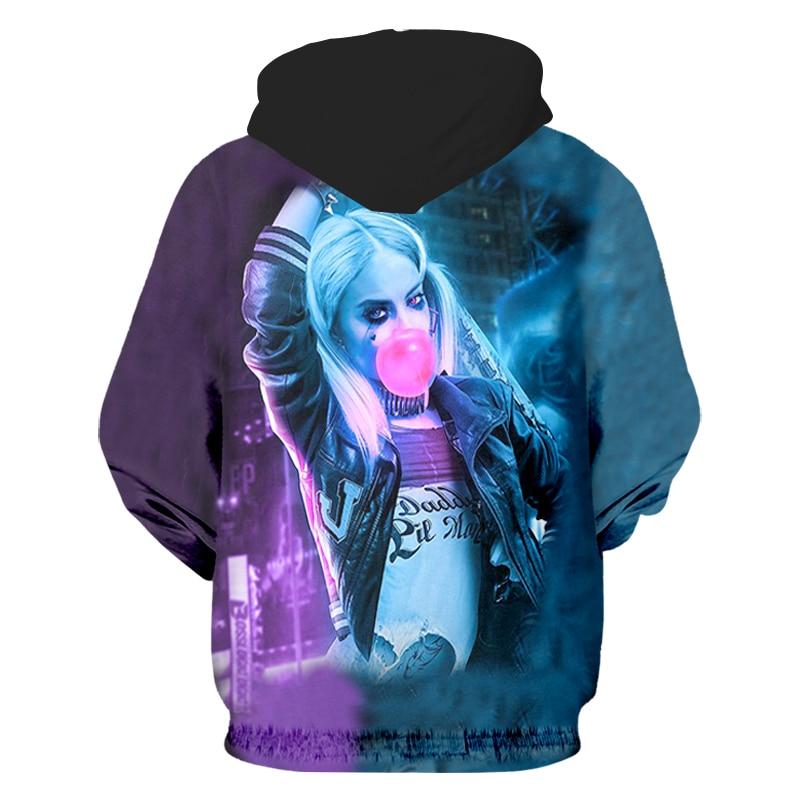 78d438243cf7 OGKB Hipster 3d Hoodies Print Movie Suicide Squad Bubble Gum Harley Quinn  Men women Streetwear Hooded Pullover Sweatshirt Pocket-in Hoodies    Sweatshirts ...