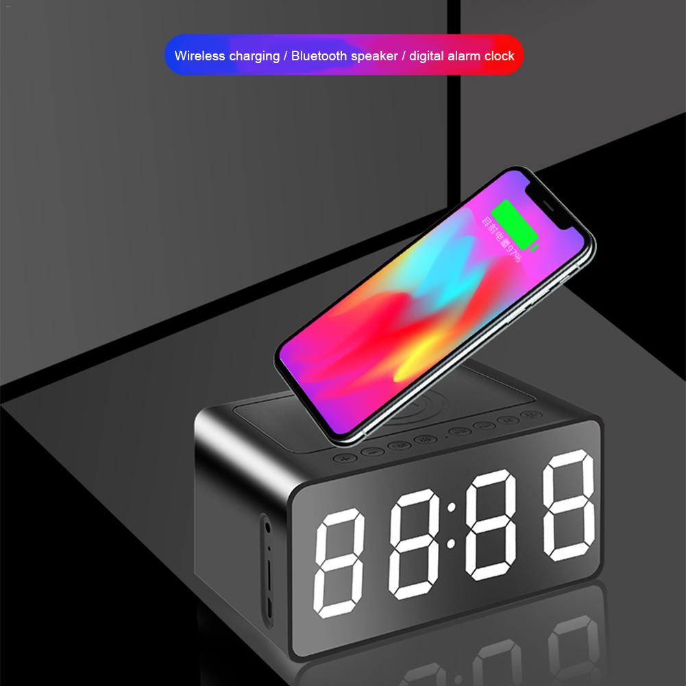 Nouveau 3 en 1 sans fil charge Bluetooth haut-parleur horloge LED réveil batterie externe horloge étanche Mini Hifi Bluetooth 5.0 haut-parleur