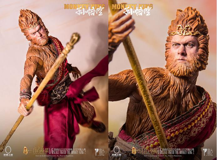 1 6 scale figure doll jurney to the west monkey king with 2 heads 12 action figures doll collectible figure model toy gift 1/6 scale figure doll Journey to the West Monks The Monkey King Sun Wukong 12 action figures doll Collectible figure model toy