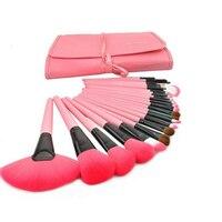 Pennelli Trucco professionale per le donne Capra Capelli Rosa Cosmetici Make up Bag Set di Strumenti con Foundation Powder Blush Sopracciglio kit