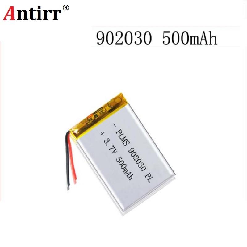 3.7V 500mAH 902030 PLIB Polymer Lithium Ion / Li-ion Battery For GPS Mp3 Mp4 Mp5 Dvd Bluetooth Model Toy Mobile Bluetooth