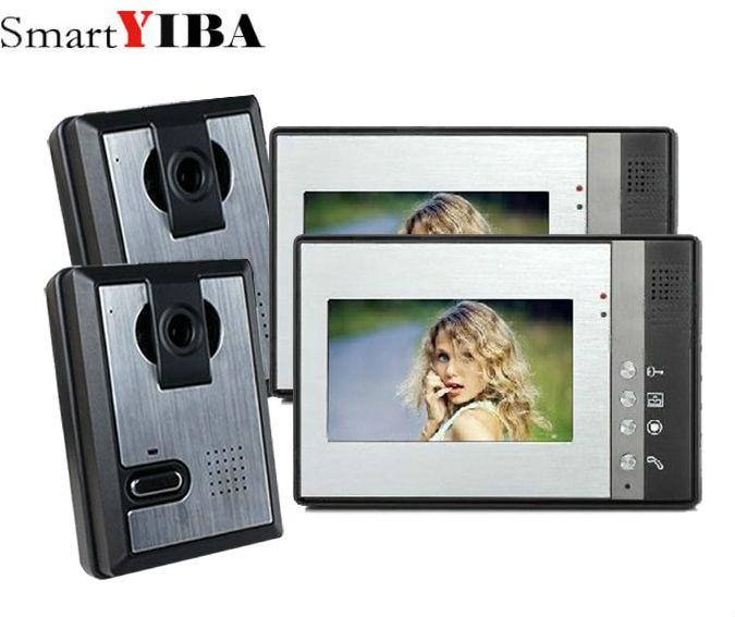 SmartYIBA 7 inch LCD Monitor Color Video Door Phone Rainproof Video intercom for villa Home Security Doorbell intercom
