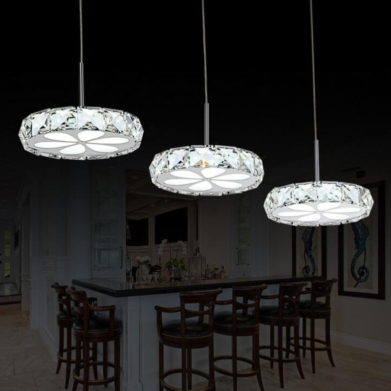 Led Modern Crystal Pendant Lights Retro 3 Dining Room Bar Kitchen Light Fixtures Droplight Hanging Lamp Home Lighting In From