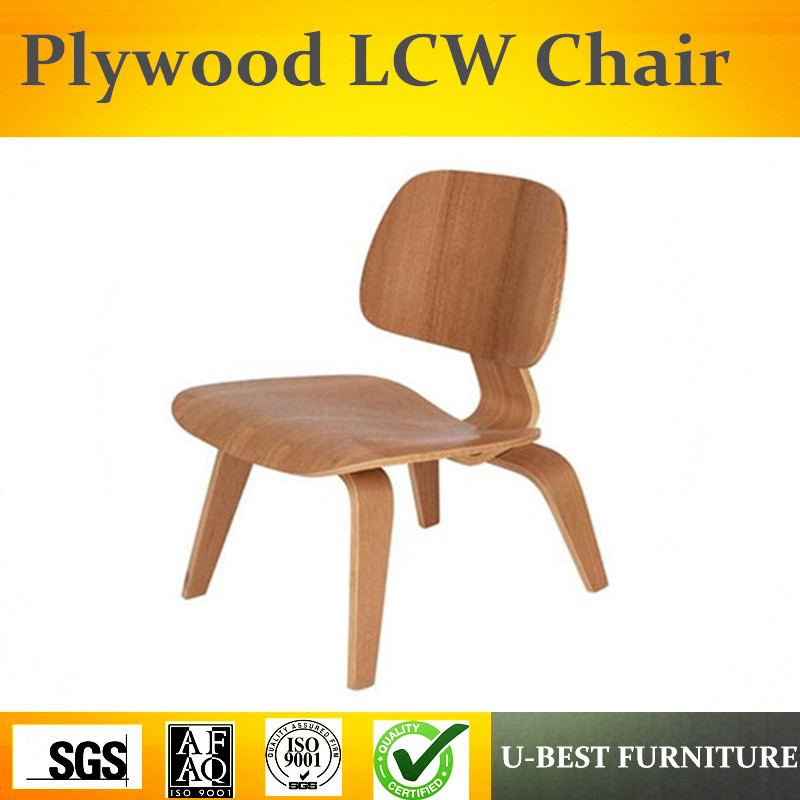 Free shipping U-BEST high quality replica LCW plywood low back chair wooden chair,Modern leisure designer furniture lounge chair