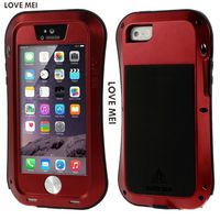 SE LOVE MEI Waterproof Shockproof Rugged Tempered Gorilla Glass Small Waist Metal Aluminum Case Cover For