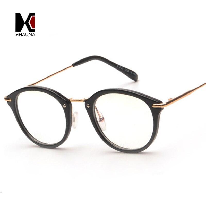 SHAUNA Mode Frauen Gläser Rahmen Männer Brillen Rahmen Vintage Runde ...