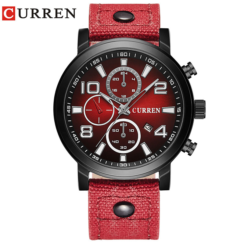 CURREN Luxury Brand Men's Watches Men Sports  Watch Army Military Watches Quartz Hour Date Clock  Relogio Masculino 8199 luxury brand men s quartz date week display casual watch men army military sports watches male leather clock relogio masculino
