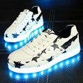 Led con luz led por zapatilla eur tamaño 30-45 niños shoes chaussure enfant con luz luminosa que brilla intensamente zapatillas de deporte