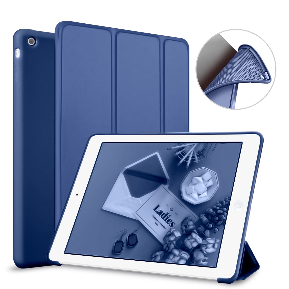 For Apple iPad Air 2 Case,Silicone Smart Cover Soft TPU PU Leather Flip Stand Auto Sleep/Wake the Tablet For iPad 6 Case high quality thickening tpu silicone cover for ipad air ipad 5 case fashion soft transparent froste cover air1 tablet pc stand
