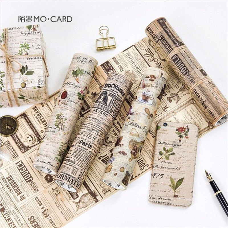 20cm*5m Retro washi tape kawai masking adhesive tape japanese stationery diy scrapbooking tools decorative paper tape washitape large size 200mm 5m old newspaper poste letter pattern japanese washi decorative adhesive tape diy masking paper tape sticker page 6