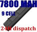 9 CÉLULAS 7800 MAH Bateria Do Portátil PARA Dell GW240 297 M911G RN873 RU586 XR693 para Dell Inspiron 1525 1526 1545x284g