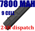 9 CELDAS 7800 MAH Batería Del Ordenador Portátil PARA Dell RN873 XR693 RU586 GW240 297 M911G para Dell Inspiron 1525 1526 1545x284g