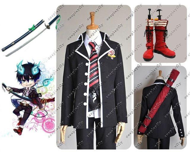 Japanese Anime Ao no Blue Exorcist Rin Okumura Cosplay Prop Sword Cloth  Shoes Sword Bag For
