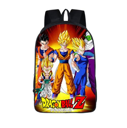 Anime Dragon Ball Z Schoolbag For Teenager Boys Cool Saiyan Sun Goku Vegeta Children School Bag Kids Backpack