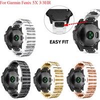 JKER 26mm Quick Release Band Metal Easy Fit Stainless Steel Watch Bands Wrist Strap for Garmin Fenix 5X/Fenix 3/Fenix 3 HR Watch