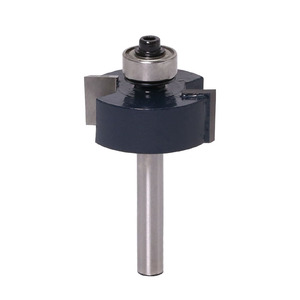 """Image 3 - 3pcs Rabbet Router Bit with 6 Bearings Set  1/2""""H   1/4"""" Shank Woodworking cutter Tenon Cutter for Woodworking Tools"""