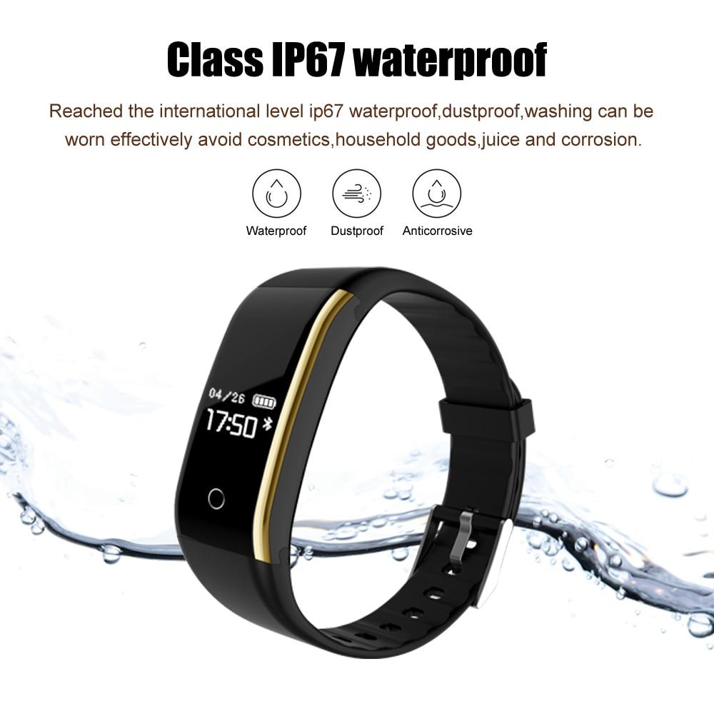 Waterproof Android Pedometer + Blood Pressure & Heart Rate Monitor Wrist Watch 4