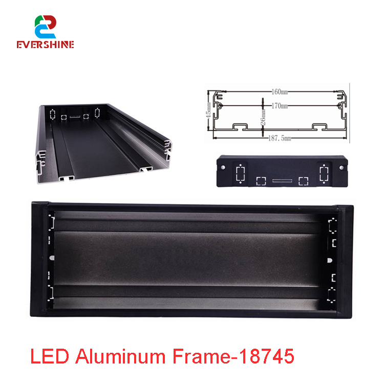 6meters Gicl 18745 Straight Corner LED Display Screen Frame Suit for P10 P5 P2 5 Indoor