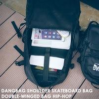 Durable Backpack Sports Bag Skateboard Bag Portable Black M/L Folding Backpack HIP HOP