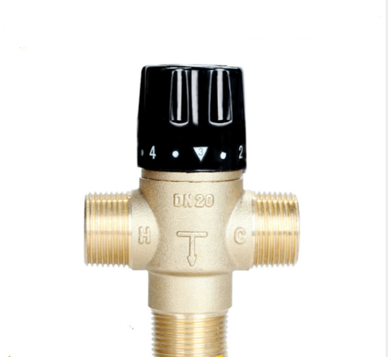 Thermostatic Mixing Valve Temperature Mixer Control Thermostatic Valve for Solar Heater DN20 3 way brass thermostatic mixing valve solar water heater valve adjust temperature control valve thermostatic mixer valve