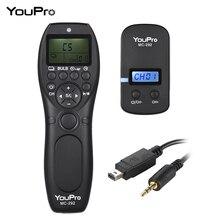 YouPro MC 292 DC2 2.4G اللاسلكية التحكم عن بعد LCD الموقت مصراع الإفراج الارسال استقبال 32 قنوات لنيكون DSRL كاميرا