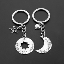 His&Hers Khal/Khaleesi Keychain Game Of Thrones Key Chains Keyring Moon Of My Life My Sun&Stars Pendant Necklace For Lovers(China)