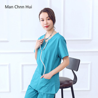 Medical clothing single piece shirtFemale doctor surgical gown beauty clothing dentist work clothe