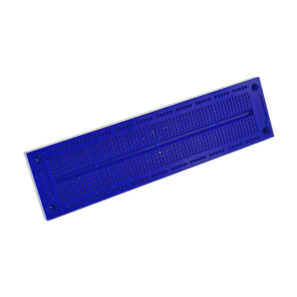 Free shipping !1 PCS SYB-120 blue Breadboard 60x12 Test Develop DIY 700 Points Holes Solderless