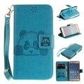 Para xiaomi redmi 3 s redmi 3 saco do telefone panda impressa pu tampa carteira de couro magnética case para xiomi redmi3s redmi3