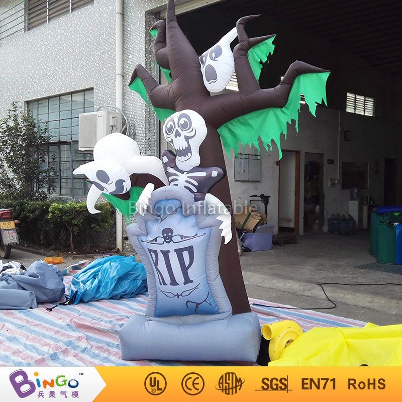 Halloween Inflatable Tree Ghost With Led Light