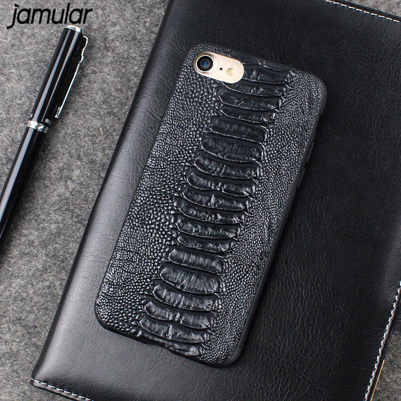 JAMULAR Crocodile Skin Leather Phone Case for iPhone 8 7 Plus Ultrathin PU Leather Back Cover Cases For iphone 6 6s 7 Plus Cover