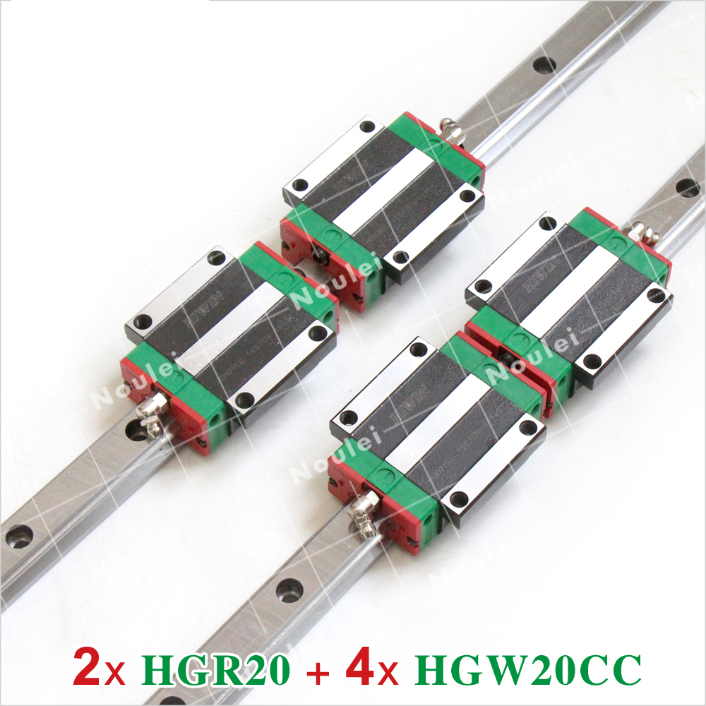 CNC 20mm Linear Rail Set HIWIN HGR20 Slide Guide with HGW20CA Carriage Block HGW20 HGW20CA 400mm 800mm 1000mm стоимость