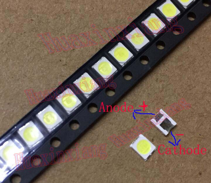 100pcs/Lot Jufei 1W 2835 3V SMD LED 3528 100LM Cold white For TV/LCD Backlight