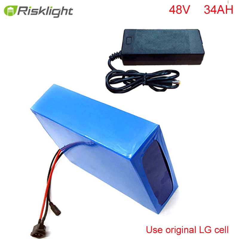 Customized 48volt 1000w  lithium ion battery pack 48V 34AH Electric Bike Battery Recharge for 1000W 1500W E-bike Use LG cell 48 volt li ion battery pack electric bike battery with 54 6v 2a charger and 25a bms for 48v 15ah lithium battery