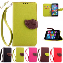 Leaf Buckle Leather Phone Case For Microsoft Nokia Lumia 535 N535 520 525 640 730 735 550 540 Cases Wallet Bag Holder Back Cover