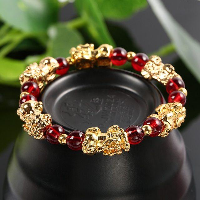 Bracelet Or Et Grenat