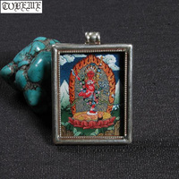 Непал, ручная работа 925 Серебряный Наро Khechari кулон курукулла Будды кулон Тибетский Tangka кулон буддийский Наро Khechari амулет