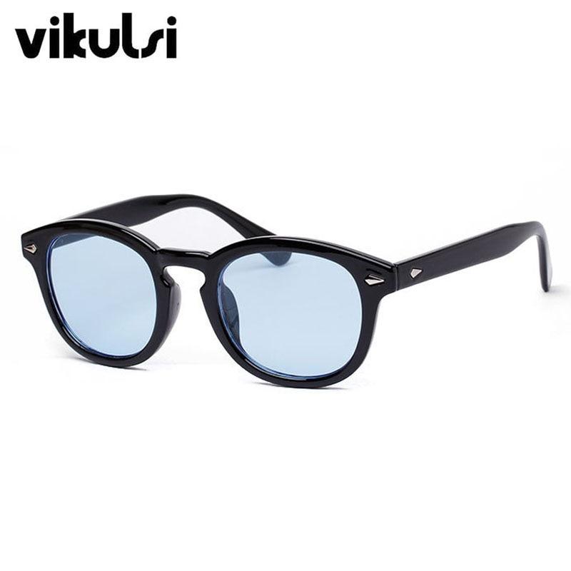 Vikulsi Super Star Lunettes de Soleil Hommes 2016 de Mode Vintage lunettes  de Soleil Femmes Marque Designer Johnny Depp Rivet Lunettes de Soleil  Oculos de ... bdf42f9acf9f