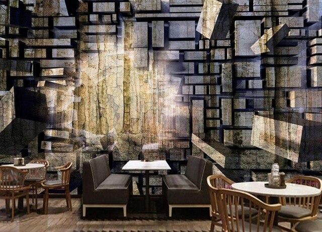 aliexpress : retro nostalgie stein tapete mauer große, Wohnzimmer